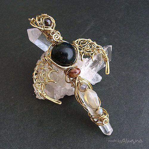 画像1: 宝石龍の杖 5種のオパール (1)