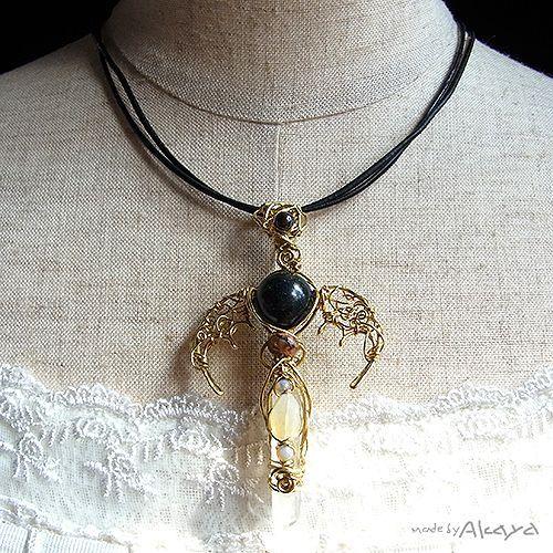 画像2: 宝石龍の杖 5種のオパール (2)