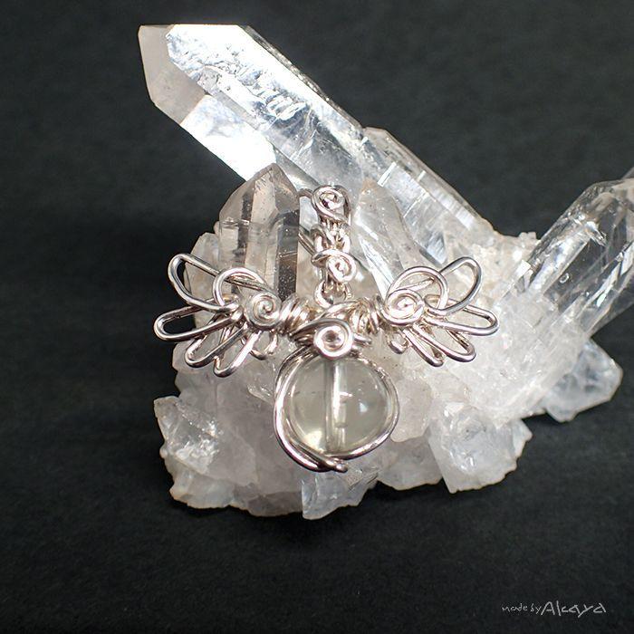 画像1: 天使のペンダント リビアングラス